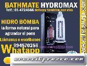 Bathmate hydromax bomba de agua para agrandar el pene sexshop en peru 994570256