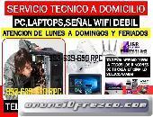 Servicio tecnico a internet wifi,computadoras,laptops,cableados,a domicilio