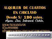 Alquiler de Cuarto - habitación en Centro de Chiclayo
