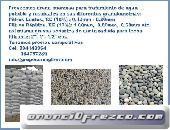 Arena y piedra para filtros de agua