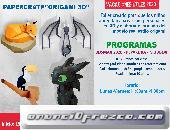 Vacaciones Utiles para niños 2020: Creación de Video Juegos 3D y Papercraft