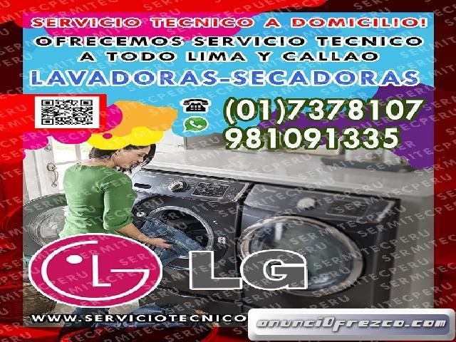 MANTENIMIENTO DE LAVADORAS LG 7378107 en pueblo libre