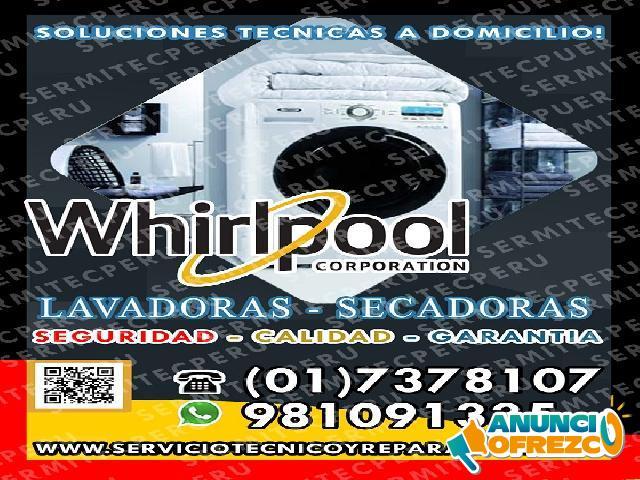 Operativos!! 7378107 *TECNICOS DE LAVADORAS WHIRLPOOL>> Surquillo
