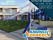 CANASTA DE BALONCESTO PROFESIONAL - PLEGABLE SLIGHT-MOBEL SPORT`S