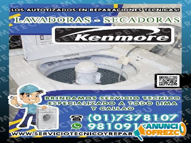 A1*Técnicos KENMORE**Expertos en Lavadoras - 7378107 En Villa El Salvador